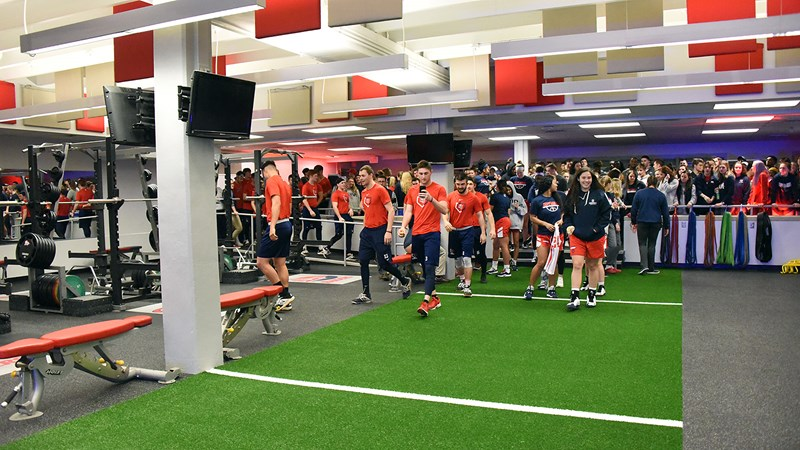 Renovations Completed To Athletics Weight Room Shippensburg University Athletics